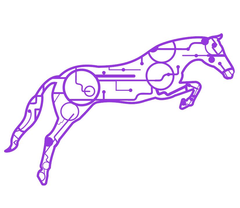 Circuit Horse Vector